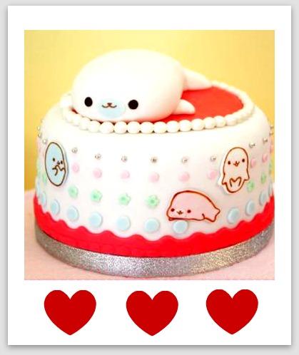 Mamegoma Cake San-x kawaii