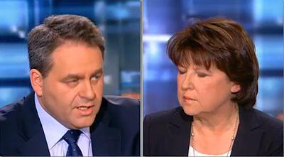 Revoir débat Aubry / Bertrand JT TF1