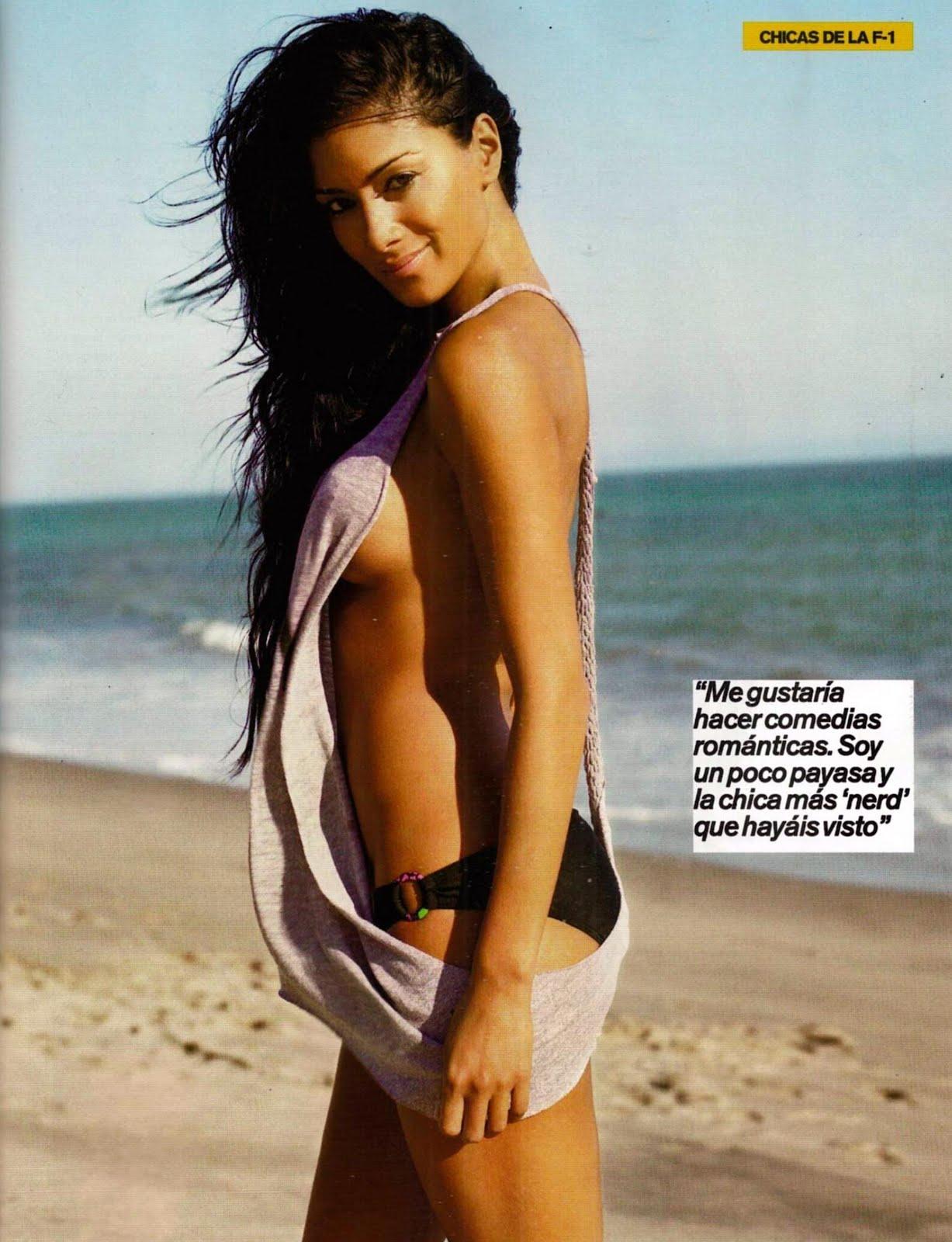 Nicole Scherzinger topless dans le FHM