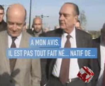 Chirac Juppé blague raciste