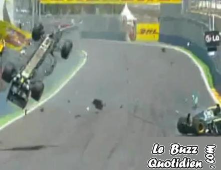 vidéo Accident Webber F1 Valence