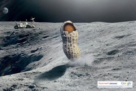 Pub Google faute de frappe Astronut Astronaut photo