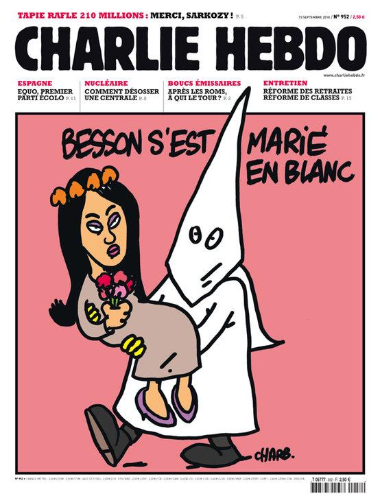 Charlie-Hebdo-Une-Eric-Besson-mariage-Blanc-KKK