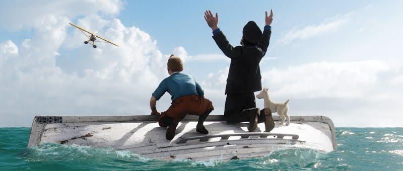 premières images du film Tintin Spielberg