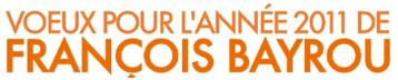 Voeux 2011 François Bayrou