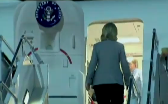 Hillary Clinton chute avion