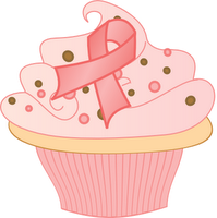 Cupcake Pink Ribbon Breast Cancer Awareness