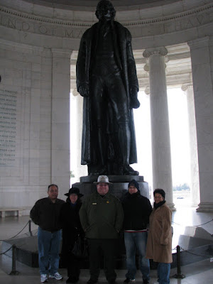 ranger jerry and jefferson memorial