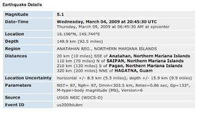 anatahan earthquake