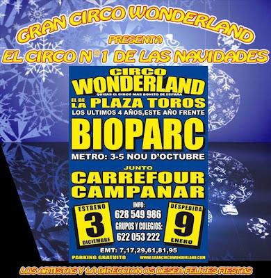 actuaciones circo wonderlan campanar valencia.el circo de las navidades 2010