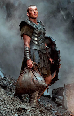 Sam Worthington as Perseus in Class of the Titans. No, not Percy Jackson. That other Perseus movie.