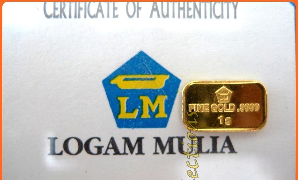My Collections Logam Mulia 1g 999 9 Fine Gold Bar