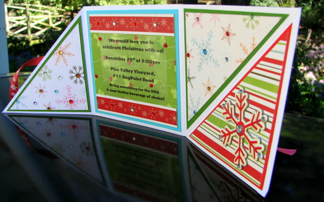 christmas tri fold cards papervine