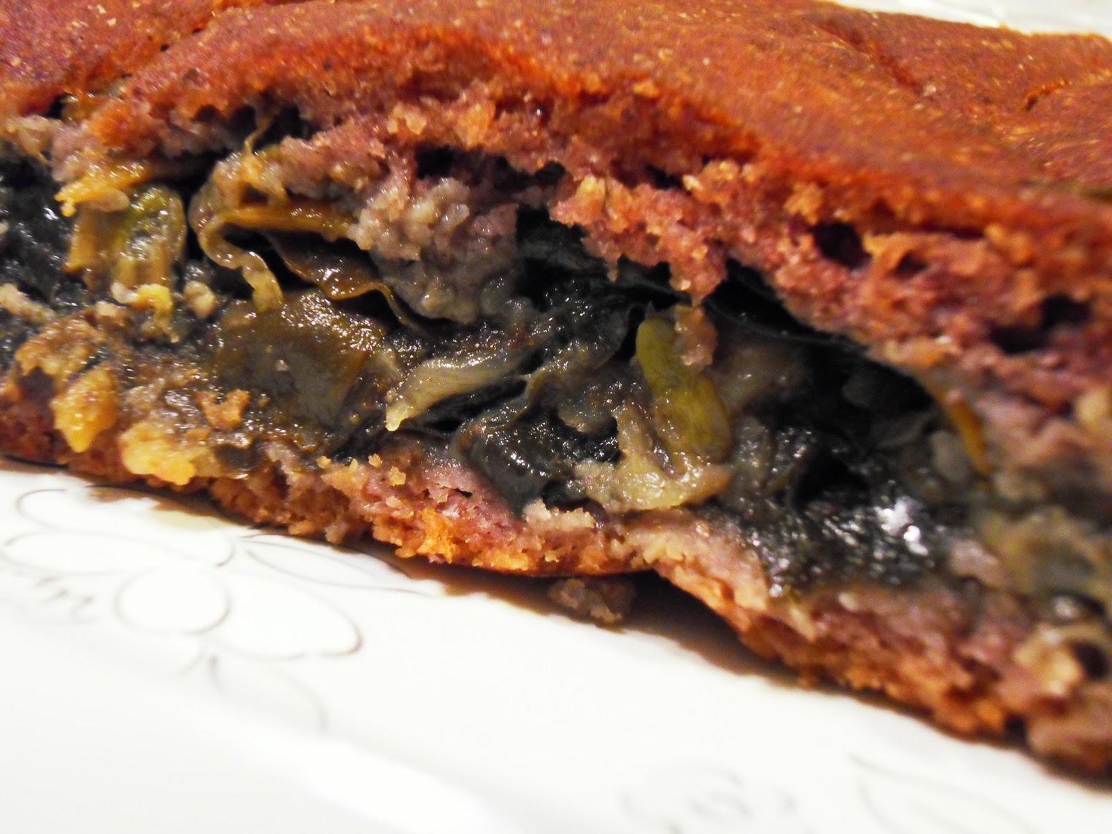 Empanada de millo rellena de algas y berberechos la - Como cocinar berberechos ...