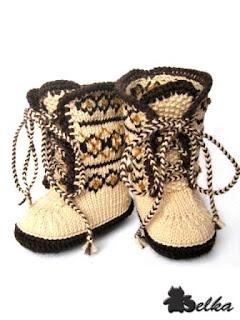 Оригинально вяжем носки