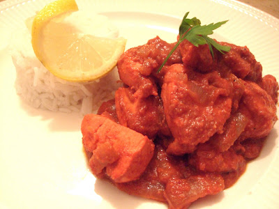 Gluten Free, Dairy Free Spicy Almond and Lemon Chicken Curry!