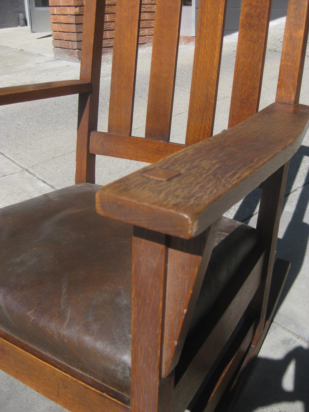 SOLD   Mission Oak Rocking Chair   $275