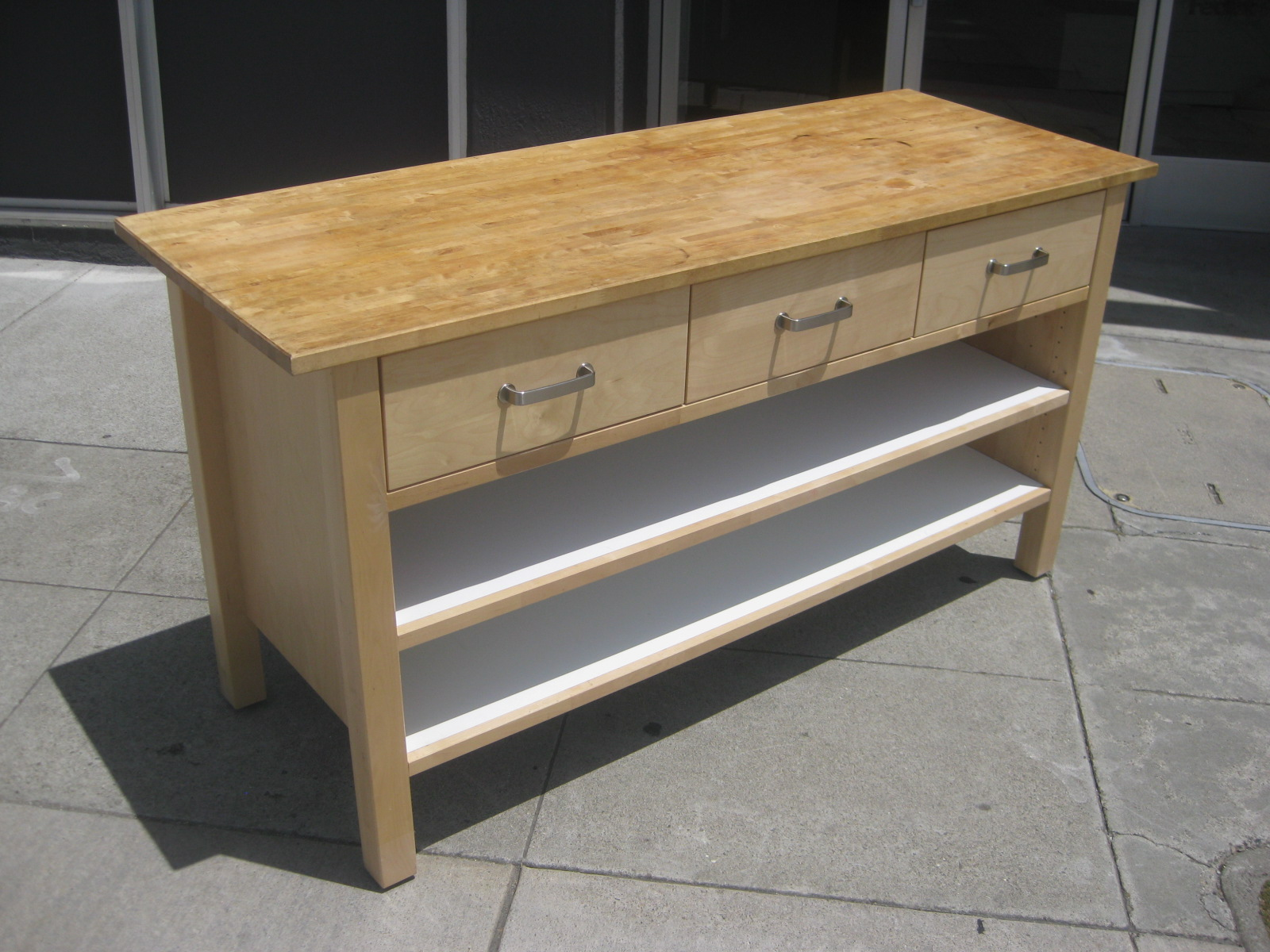 UHURU FURNITURE & COLLECTIBLES: SOLD - Ikea Butcher Block Counter