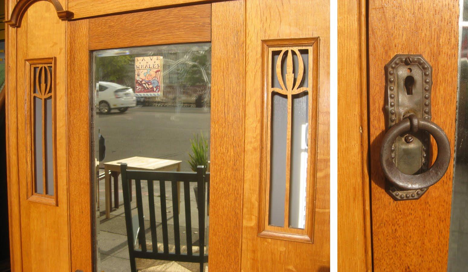 SOLD   Art Nouveau Oak Armoire   $200