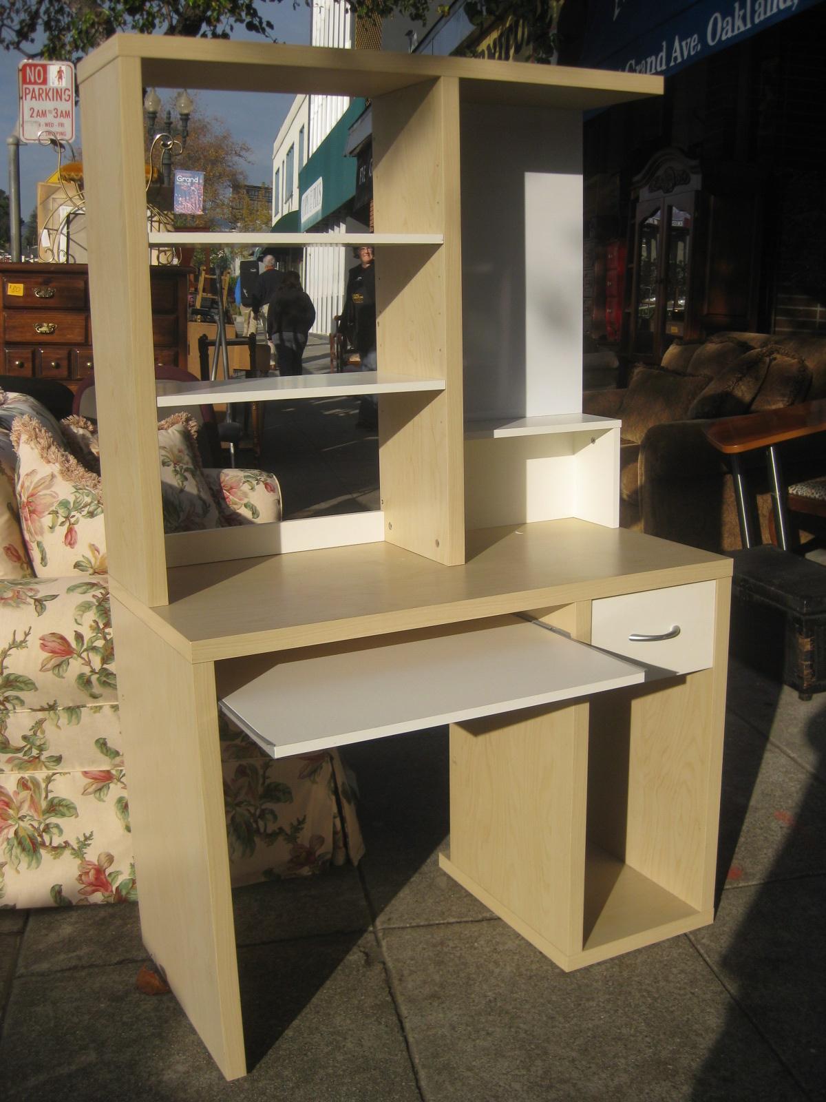 uhuru furniture collectibles sold ikea desk w hutch 40. Black Bedroom Furniture Sets. Home Design Ideas
