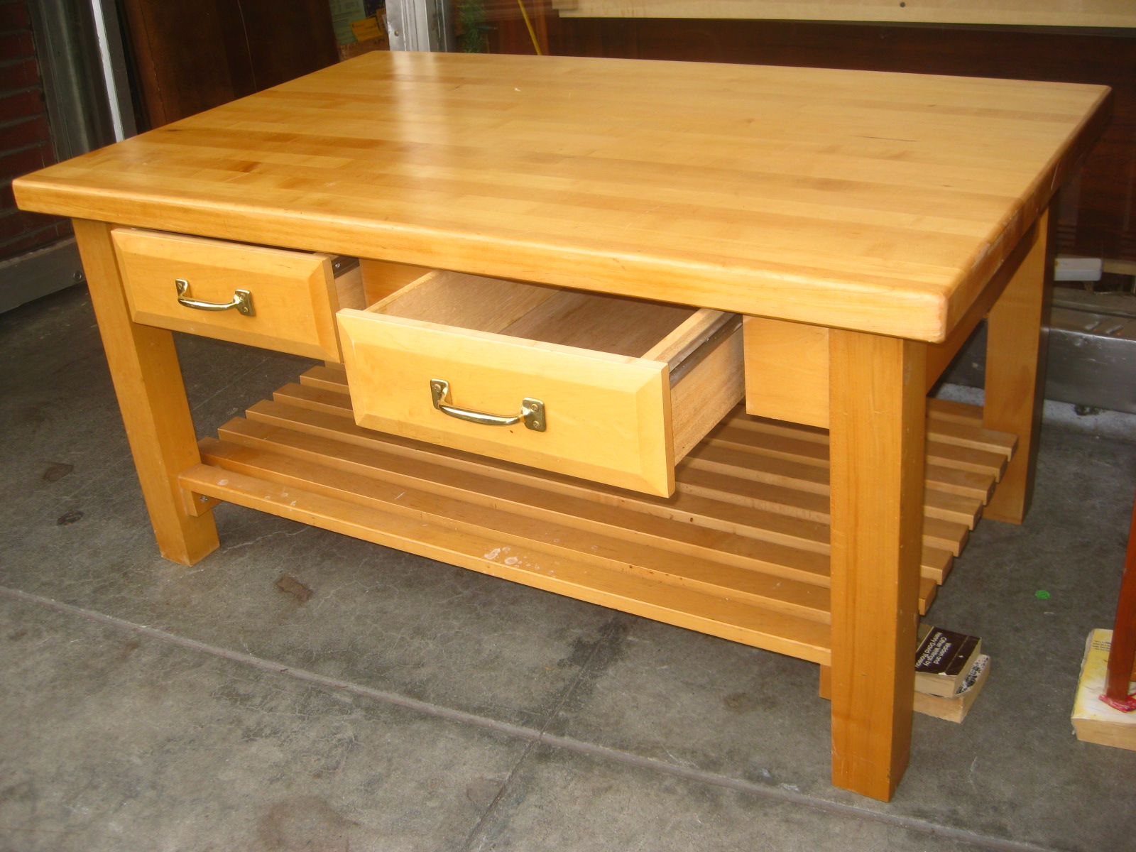 Uhuru Furniture Collectibles Sold Butcher Block Coffee Table 70