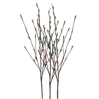Red and Green Lighted Branches from RAZ Imports