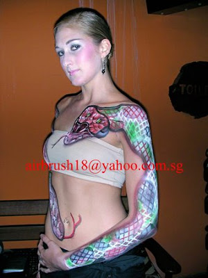 Airbrush Art Body Tattoo