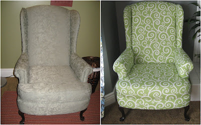 Reupholstered Wingback Chair
