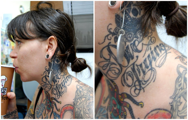 Neck Tattoos Writing Designs