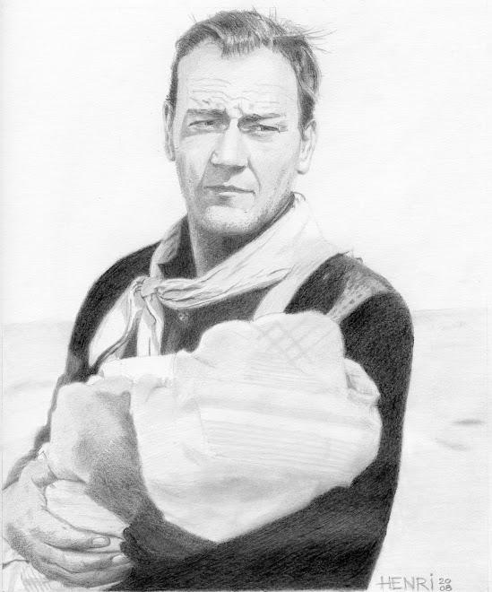"""John Wayne dans """"Le fils du désert"""""""