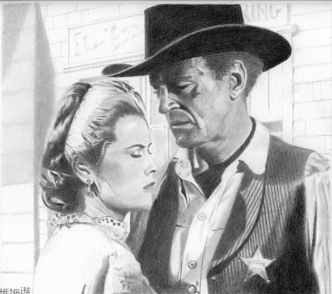 """Grace Kelly et Gary Cooper dans """"le train sifflera trois fois"""""""