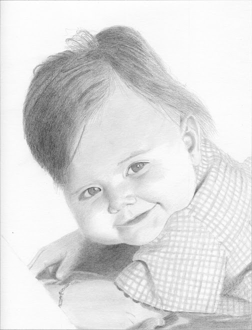 Ma petite nièce Alyssia à 6 mois