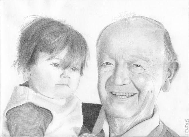 Papa et son arrière-petite-fille Alyssia à Noël 2008