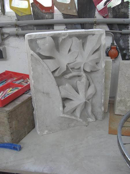 Modèle en plâtre de feuilles d'acanthe