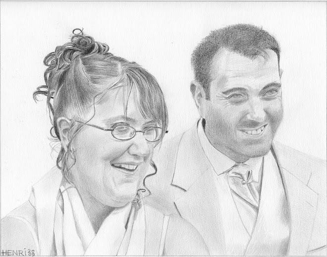 Valérie et Frédéric à leur mariage le 18 juillet 2009