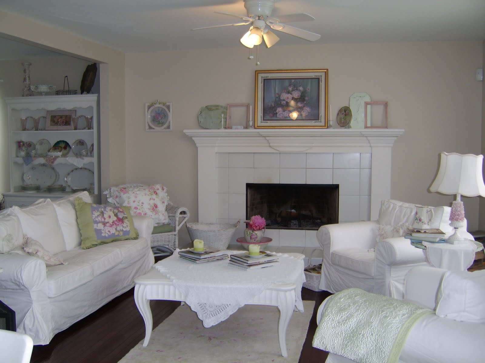 images of shabby chic living rooms