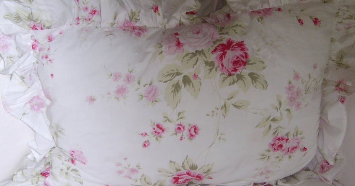 Shabby Chic Woodrose Pillowcases : Anything Shabby Chic: My Authentic Shabby Chic pillows