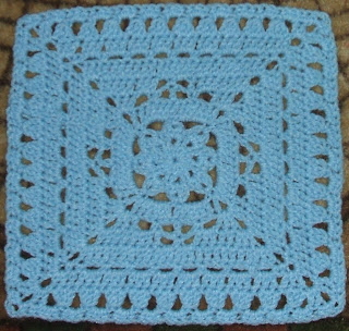 Knitting Patterns For 12 Inch Squares : Winter Dream Square (12