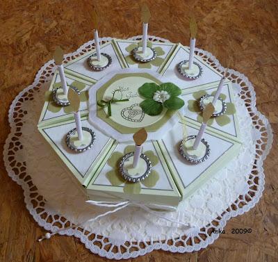 Ankas Bastelseiten: Torte und Karte zur Hochzeit