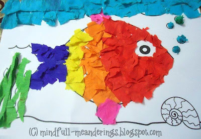 20+ Simple paper collage ideas for kids - A collection of craft ideas that kids can make at home. Frugal, Open-ended & a lot of fun