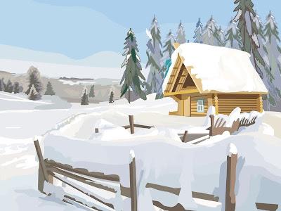 """Схема вышивки  """"Простой зимний пейзаж """": таблица цветов."""