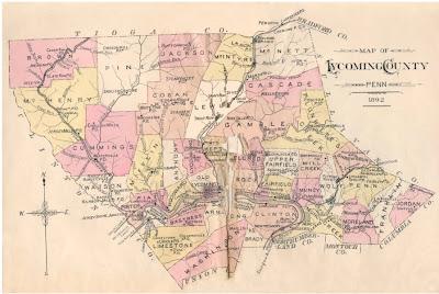 RARE 1770 PA Map NORTHUMBERLAND COLUMBIA CARBON County PENNSYLVANIA HISTORY huge