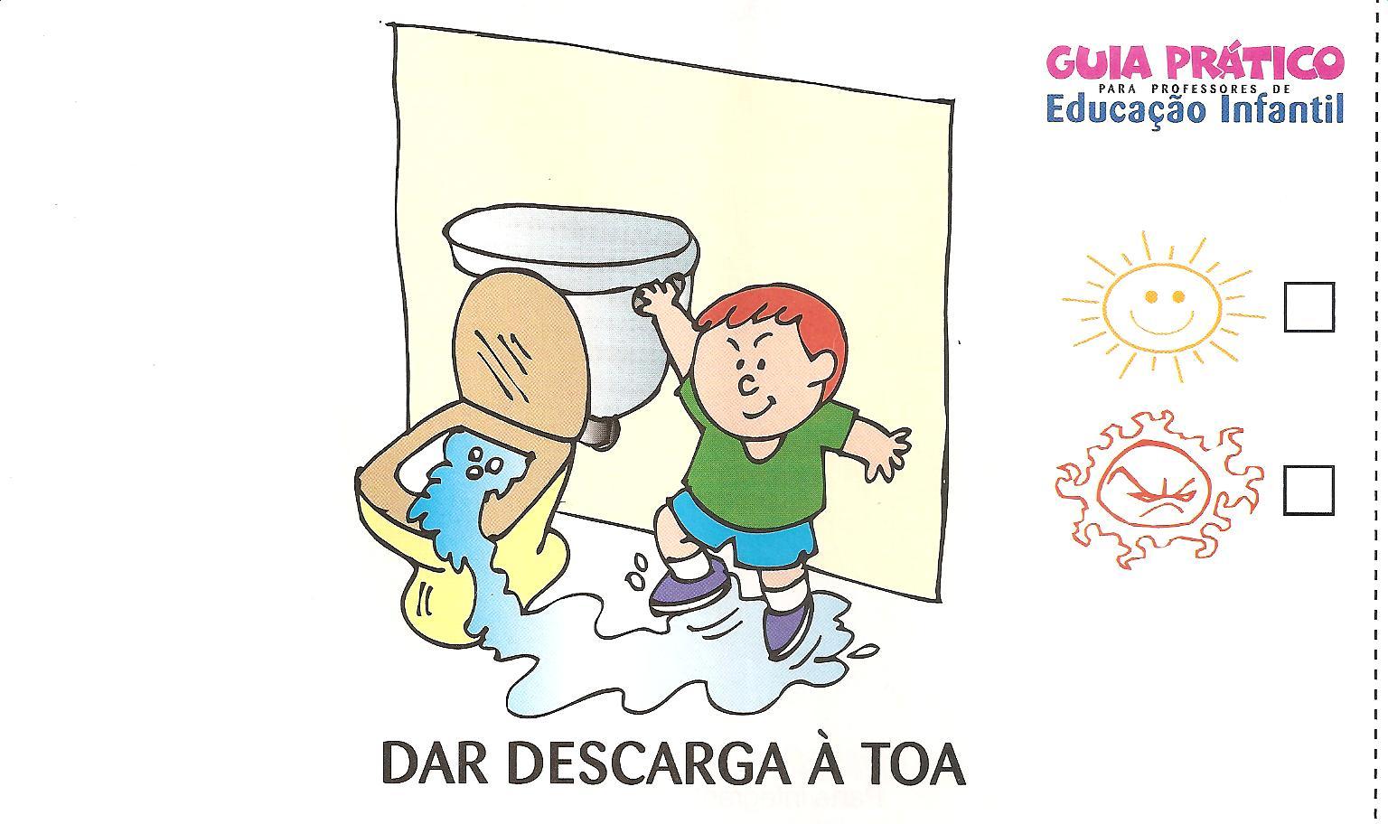 Imagens De Banheiro Para Colorir : Regras para ida ao banheiro
