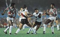 Foto do time do Vasco no jogo da final do Brasileiro de 1984