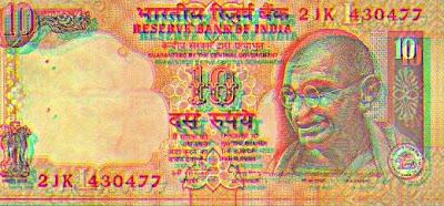 Rs ten plastic note