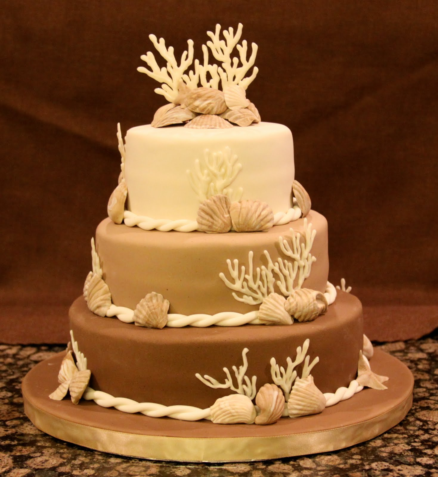 Engagement Party Cake Images : .: Beach Engagement Party Cake