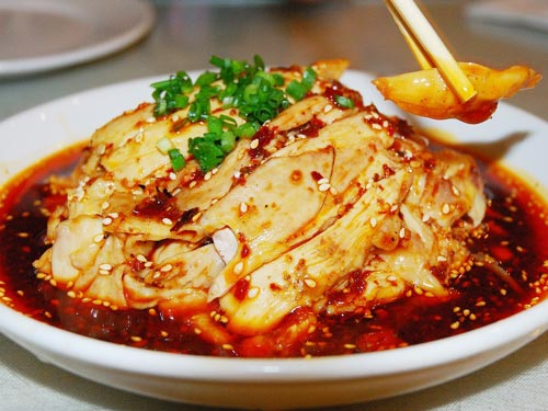 eating shanghai: 口水鸡 kǒushuǐ jī mouth-watering chicken