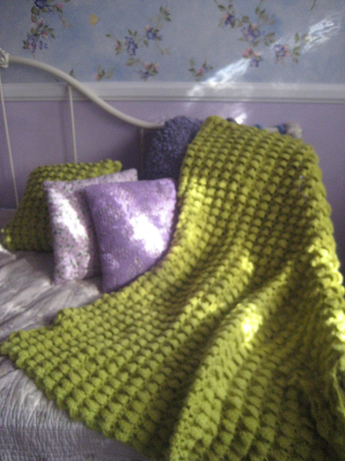 Making The Most of Each Day: Michaels Craft Crochet Cluster Afghan ...