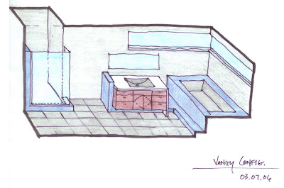 The studio sketchbook residential bathroom configuration for Bathroom configurations