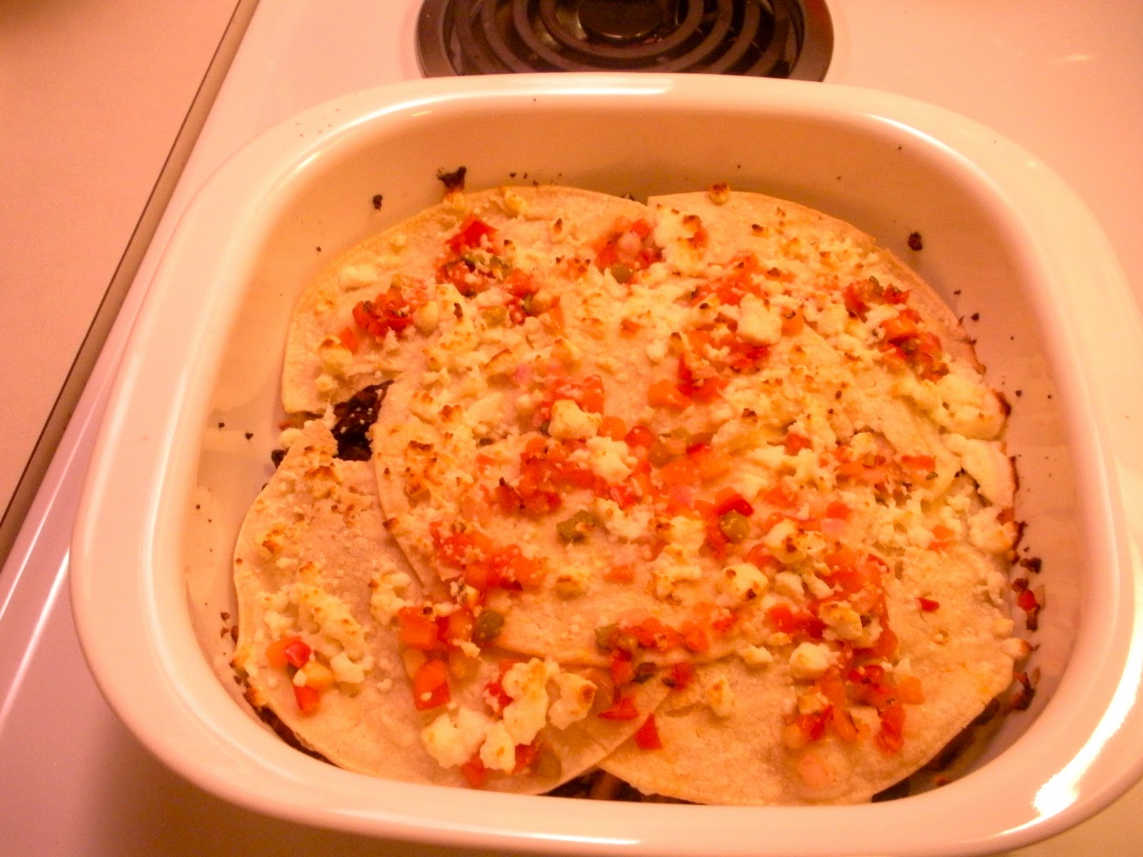 The Twisted Chef: Mushroom and Black Bean Tortilla Casserole